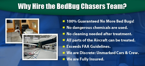 BedBug Chasers is there to solve your aircraft bed bug problems in Vermont